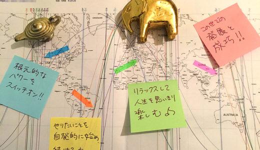 【再び満席御礼!】7/25(木)19-21時半 アストロマップWS(ふせんdeアファメーション遊び付)